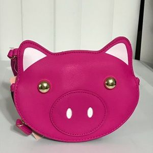 Luv Betsey Johnson pink pig wristlet